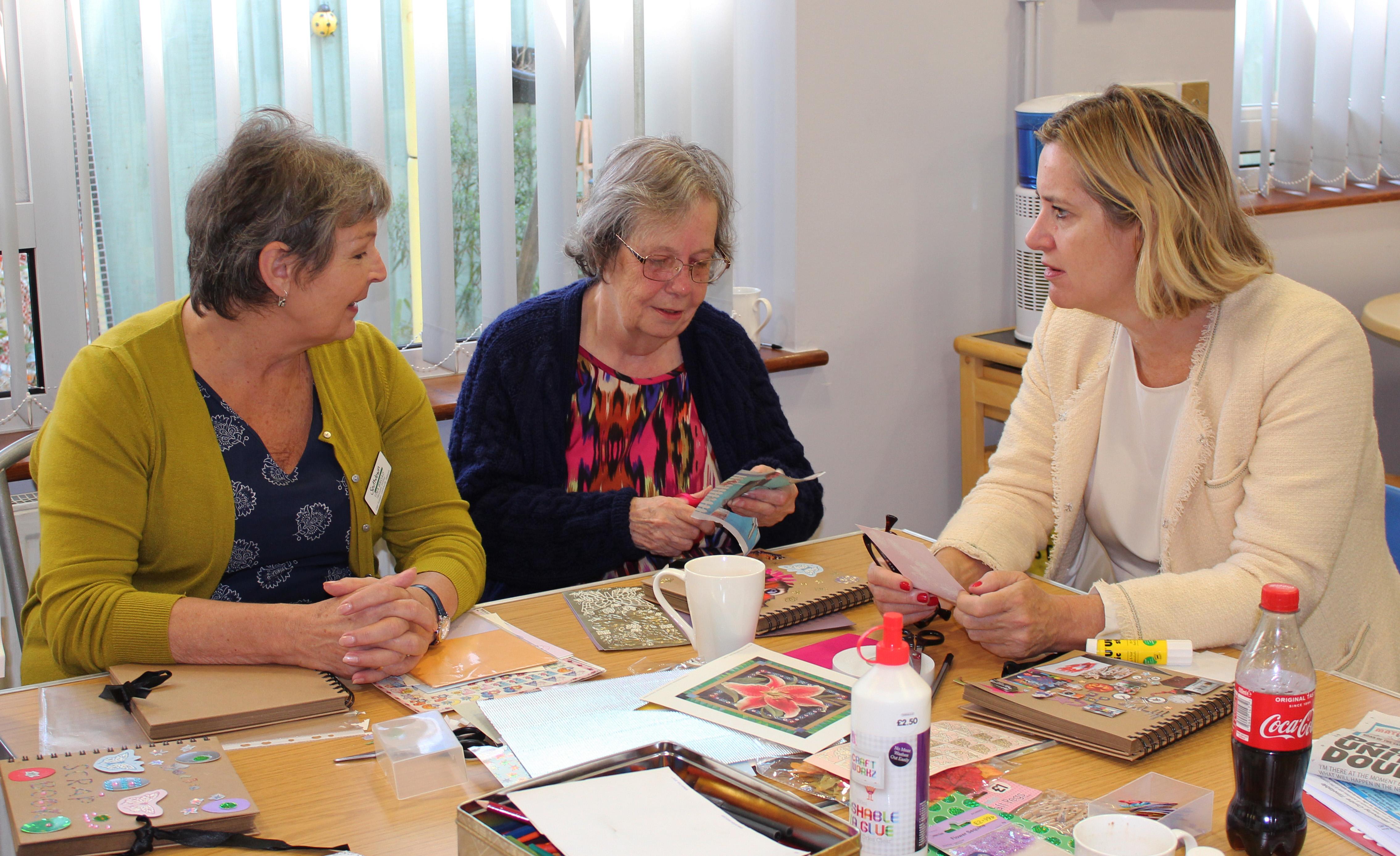 Amber Rudd meets art group