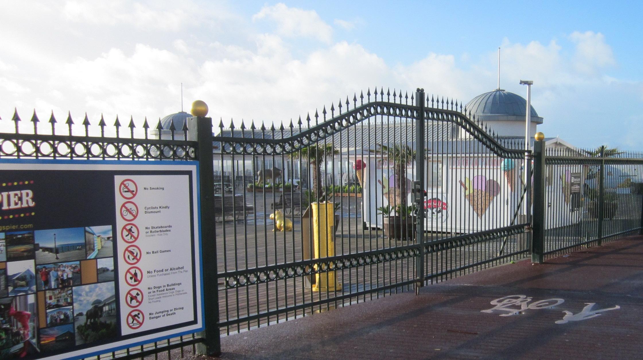 Hastings Pier gates